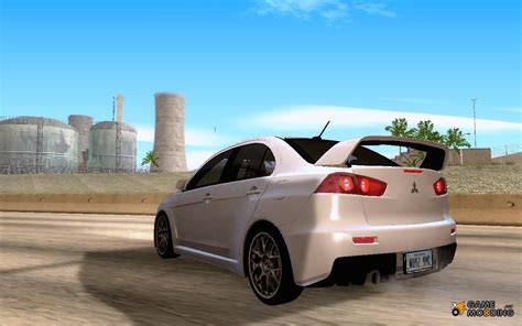 mitsubishi evo x in stock for gta san andreas