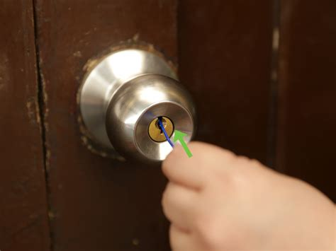 how to open bathroom door lock without key 3 ways to pick locks on doorknobs wikihow