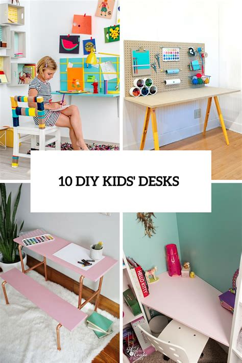 10 Diy Kids Desks For Art Craft And Studying Shelterness Diy Study Desk