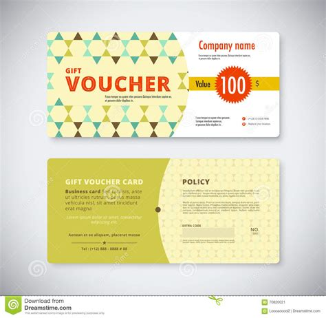 business card voucher template abstract gift voucher template card business voucher card