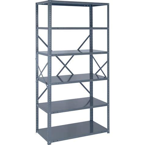 industrial metal shelving quantum heavy duty 18 industrial steel shelving 6 shelves 36in w x 12in d x 75in h
