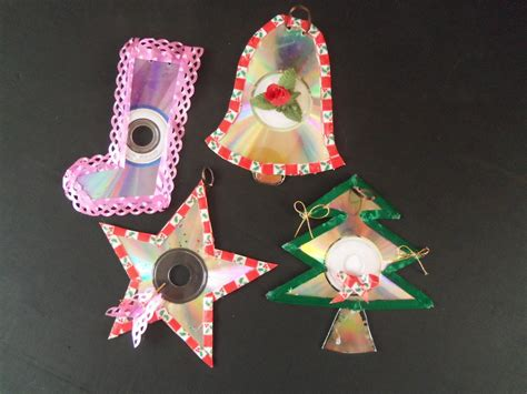 imgenes de adornos de navidad con material de provecho adorno navide 241 os de cd reciclados youtube