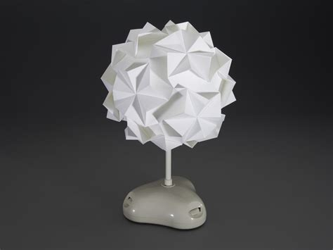 Folded Paper L Shade - akari origami led l shade kit from gakken id 1834