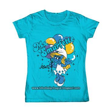 Kaos Anak Kaos Smurf Smurfette Topi smurfette desain kaos desain t shirt desain baju clothing kaos distro design grafis