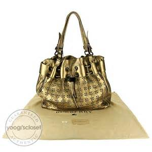 Burberry Leather Warrior Handbag by Burberry Gold Leather Prorsum Runway Large Studded Warrior