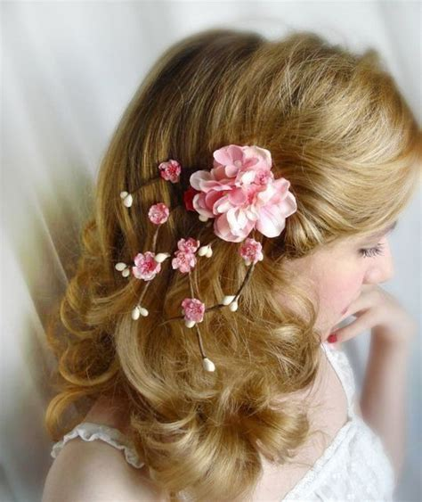 Flower Hair Cl cherry blossom hair accessories pink by