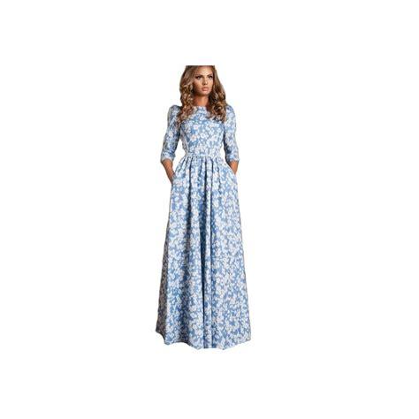Robe Longue Soie Fleurie - robe ciel fleurie robe soir 233 e longue manche longue robe