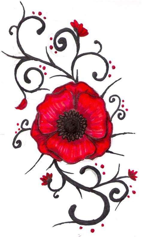 the gallery for gt poppy tattoo drawing