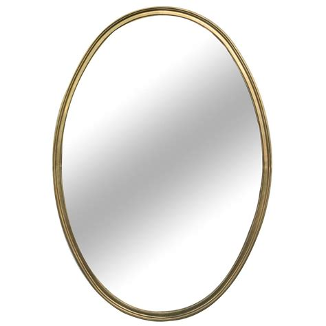 mirror shapes 1950s french brass oval shaped mirror at 1stdibs