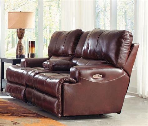 lay flat reclining sofa wembley walnut power lay flat reclining console loveseat