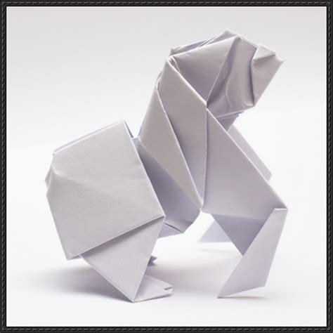 How To Make Origami Gorilla - papercraftsquare new paper craft how to fold an