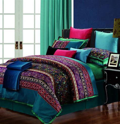 boho king size bedding paisley bedding sets boho striped bed set egyptian cotton