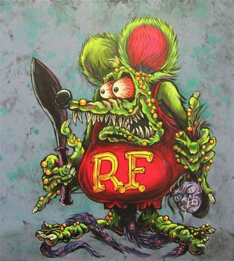 rat fink illustration designs