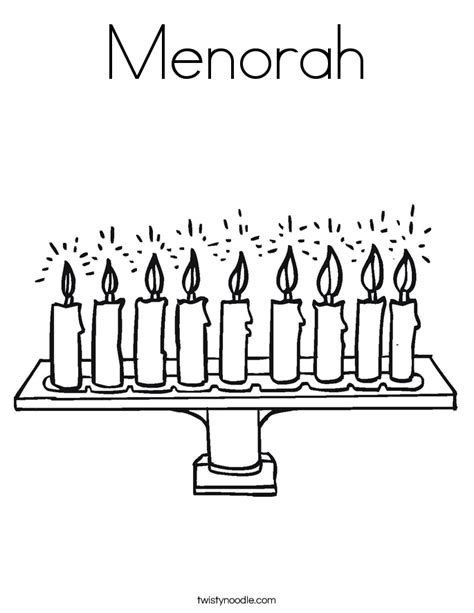 coloring page of a menorah menorah coloring page twisty noodle