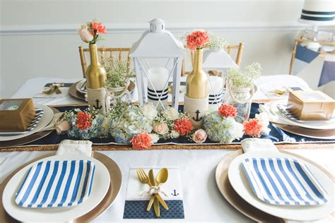Nautical Table Decor by Nautical Wedding Table