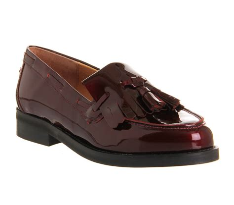 burgundy loafers for womens office extravaganza loafer burgundy patent leather