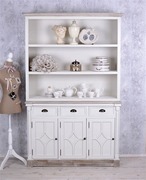 bücherschrank regal grosser b 252 cherschrank shabby chic regal weiss b 252 cherregal