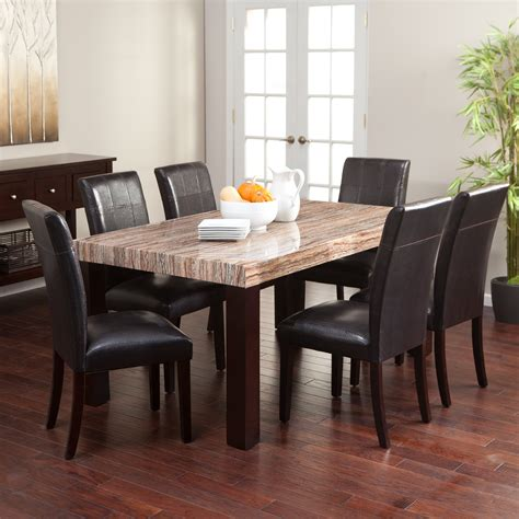 dinner table set carmine 7 piece dining table set dining table sets at