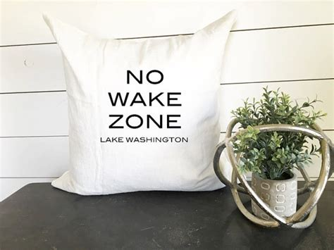 zone home decor no wake zone pillow 18 x 18 home decor cushion throw