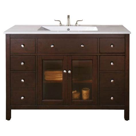 48 inch bathroom vanity cabinet only lexington 48 inch vanity only in light espresso finish