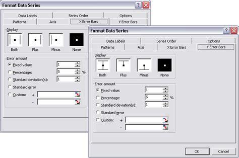 format error bars excel 2007 standard error excel 2007 bar