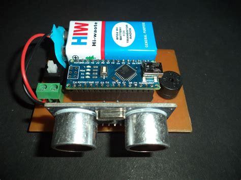 ultrasonic blind walking stick  arduino circuit