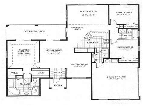 simple floor plans open house house floor plan design