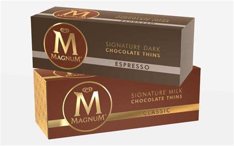 Magnum Milk Chocolate Bar 25g magnum extends into premium chocolate confectionery lines