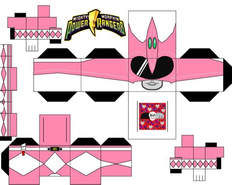 Papercraft Power Rangers - pink power ranger by guitar6god on deviantart