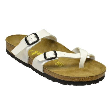 berkinstock slippers birkenstock birkenstock mayari 071221 birko flor white