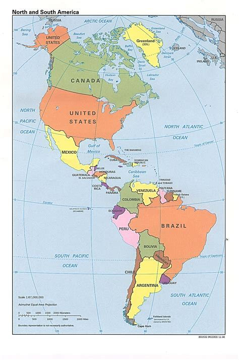 usa and south america map map of and south america political map