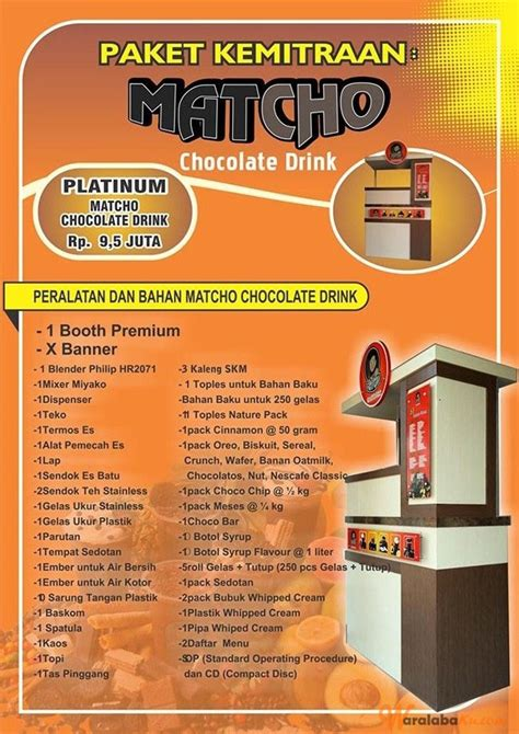 Franchise Murah Pasta No Franchise Fee No Royalty Fee franchise minuman matcho chocolate drink peluang bisnis