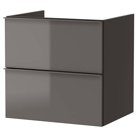 high gloss grey bathroom cabinets godmorgon wash stand with 2 drawers high gloss grey