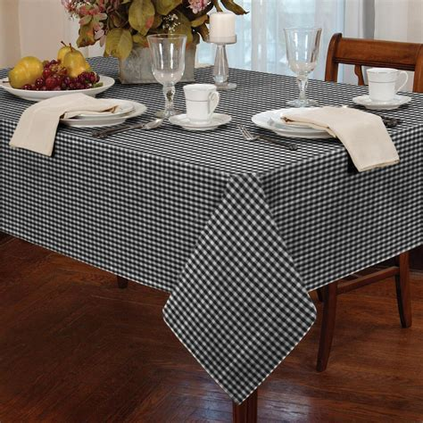 kitchen table protector tablecloth traditional gingham check square oblong