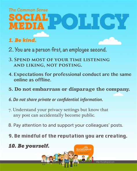 Freelance Website Manager Mike Benny Simple Social Media Policy Template
