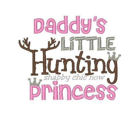 daddy s daddy s little hunting princess with crown embroidery