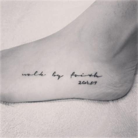 walk by faith tattoo on foot walk by faith faith