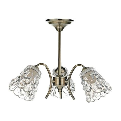 Ceiling Lights Antique Brass Dar Lighting Hadley 3 Light Antique Brass Semi Flush Ceiling Light Had0375 Lighting From The