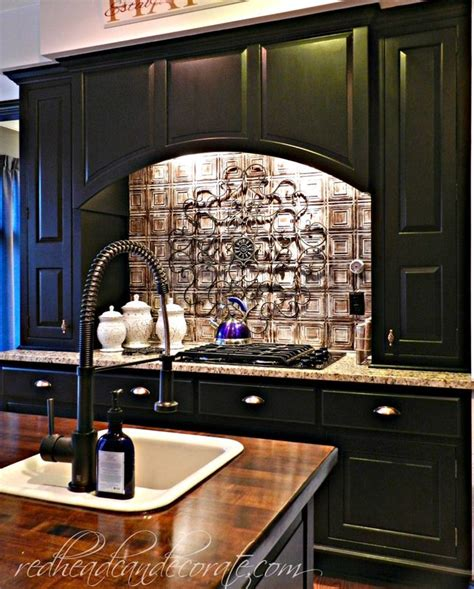diy painting kitchen cabinets black kitchen makeover part 3 redhead can decorate
