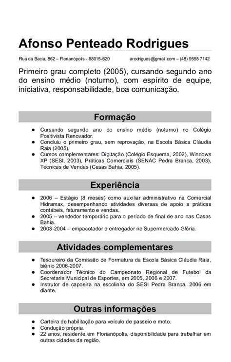 Modelo Curriculum Vitae Europeo 2015 Modelo De Curriculum Novo Modelo De Curriculum