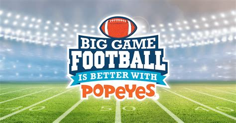 Football Sweepstakes - football is better with popeyes sweepstakes footballisbetterwithpopeyes com