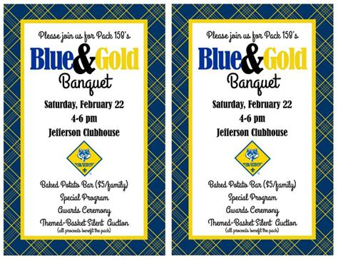Cub Scout Blue And Gold Program Template by 59 Best Images About Blue And Gold Banquet Ideas On