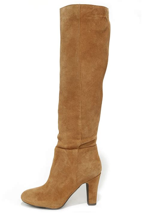 boots suede boots knee high boots high heel