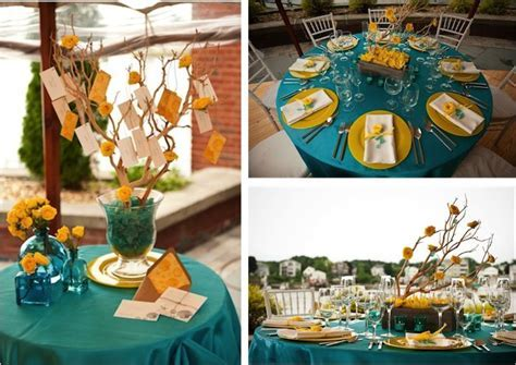 17 Best ideas about Teal Yellow Wedding on Pinterest