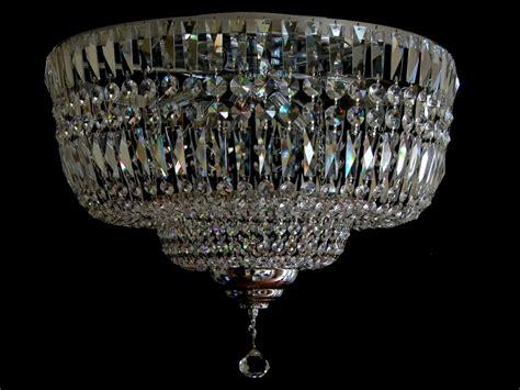 decken kristall le flacher decken kronleuchter - Deckenle Kronleuchter