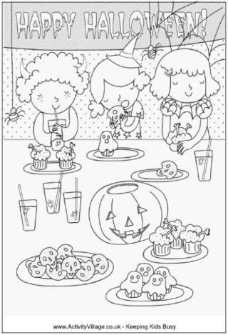 halloween birthday coloring page halloween colouring pages