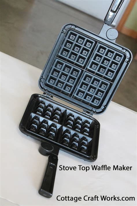 Vintage Style Non electric Stovetop Belgian Waffle Maker