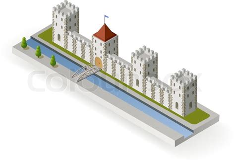 Turret House Plans by Isometric Medieval Castle Stock Vector Colourbox