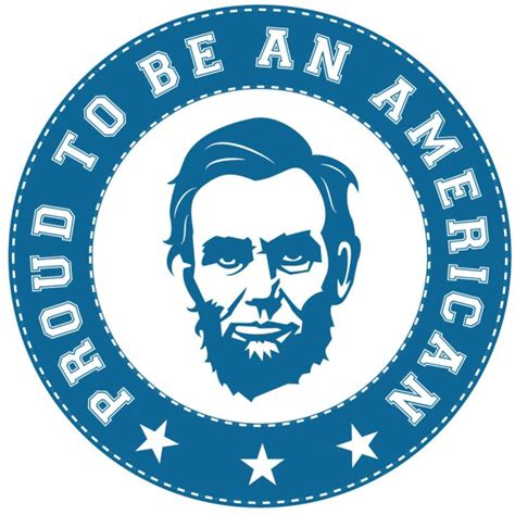 abraham lincoln logo abraham lincoln sticker american proud vector free
