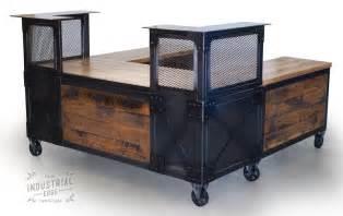 Wood Reception Desks Crafted Custom Reception Desk Reclaimed Wood By Real Industrial Edge Furniture Llc